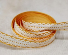 Ribbon - Lacy Scallop Orange