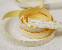 Ribbon - Lacy Scallop Yellow