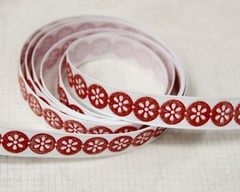 Ribbon - Daisy Dots Red