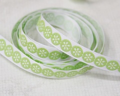 Ribbon - Daisy Dots Green