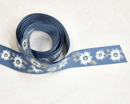Ribbon - Blue Blossoms