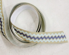 Ribbon - Jumbo Chevron Tan