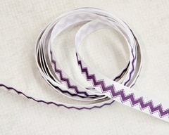Ribbon - Chevron Stitch Plum