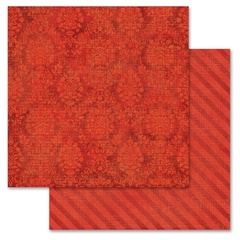 Red Damask 12x12
