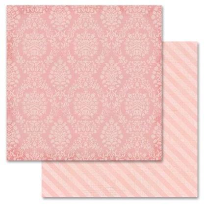 Pink Damask 12x12