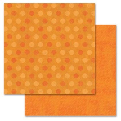 Orange Pixie Dots 12x12