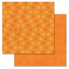 Orange Pixie Dots 12x12