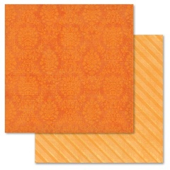 Orange Damask 12x12