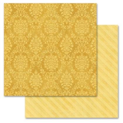 Mustard Damask 12x12