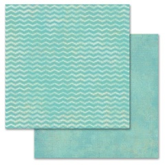 Mint Chevron 12x12