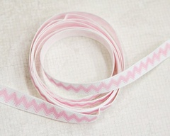 Ribbon - Chevron Stitch Pink