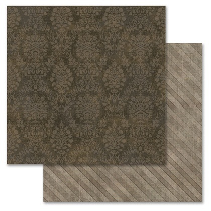 Brown Damask 12x12