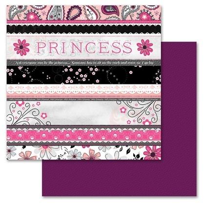 Princess Ticker Tape 12x12