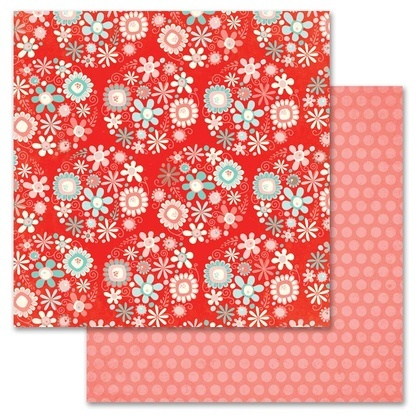 Coral Daisy Bouquet 12x12