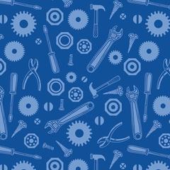 Fabric - Tool Jumble Blue