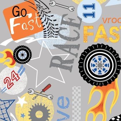 Fabric - Racer Word Play