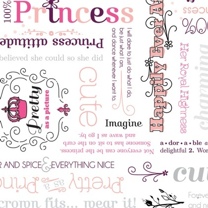 Fabric - Princess Word Play