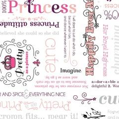 Fabric - Princess Word Play