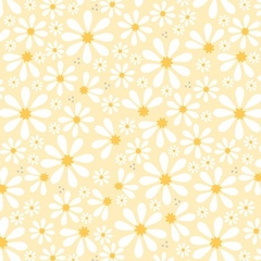 Fabric - Sunshine Daisies Yellow