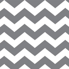 Fabric - White Chevron