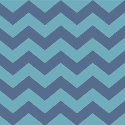 Fabric - Blue Chevron