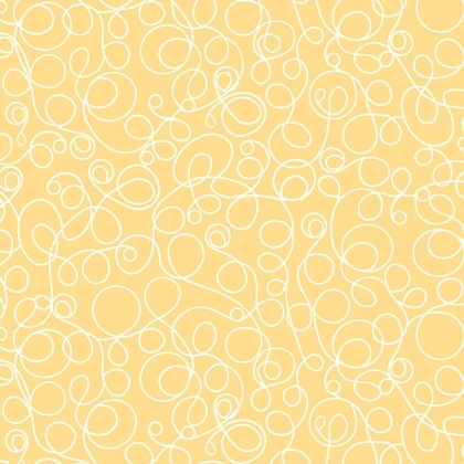 Fabric - Lined Squiggles Yellow