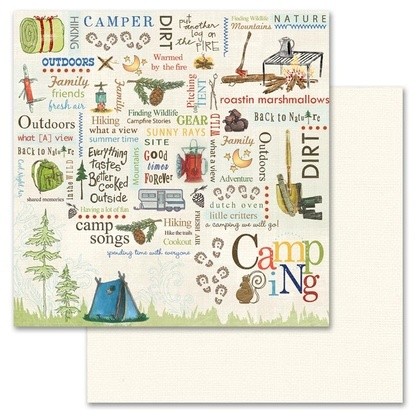 Camping Word Play 12x12