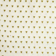 Gold Triangles Fabric