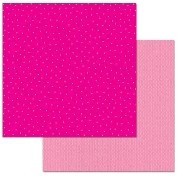 Hot Pink Dots 12x12