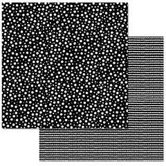 Black & White Dots 12x12