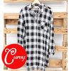 Plaid tunic adornit curvy