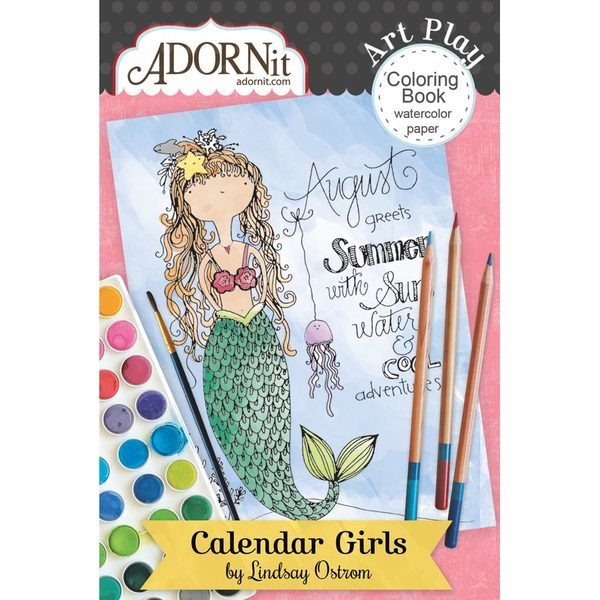 Calendar Girls Mini Coloring Book