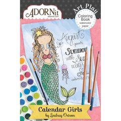 Calendar Girls Mini Coloring Book