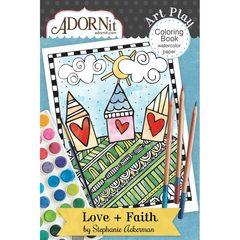 Love + Faith Mini Coloring Book