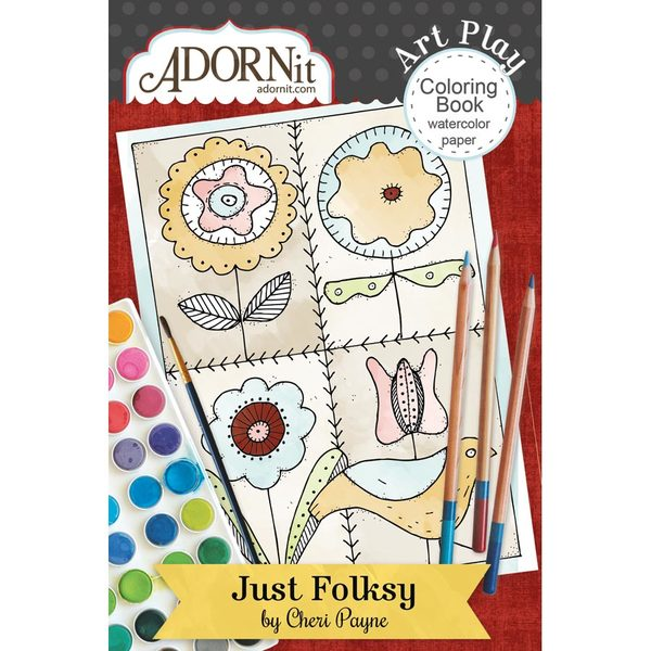 Just Folksy Mini Coloring Book