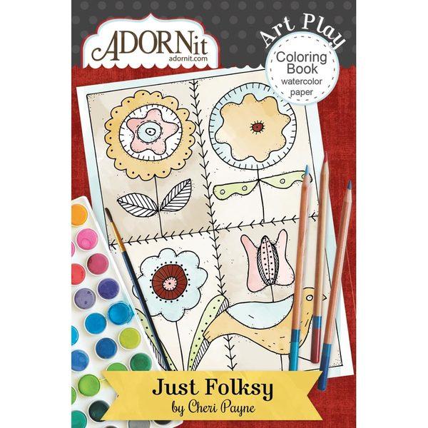 Just Folksy Mini Coloring Book