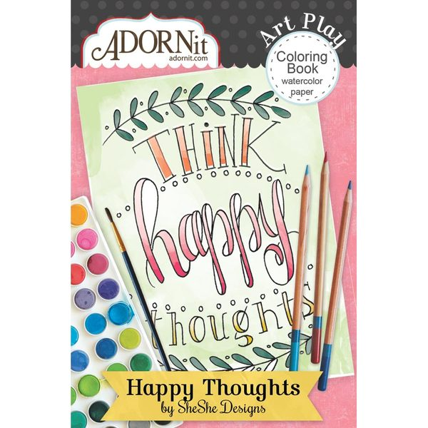 Happy Thoughts Mini Coloring Book
