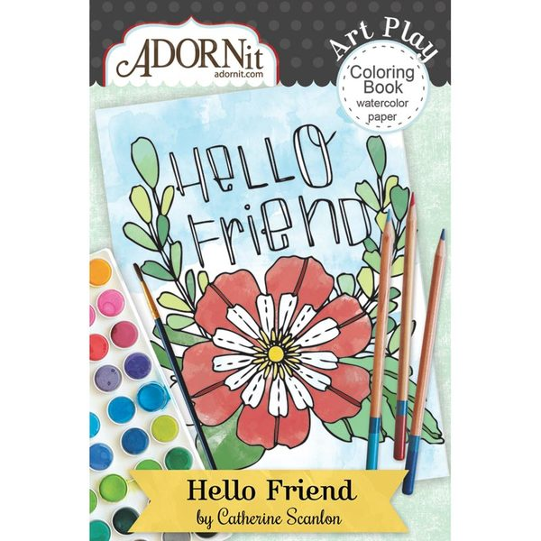 Hello Friend Mini Coloring Book