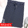 Whimsy polka dot skirt navy so adornit
