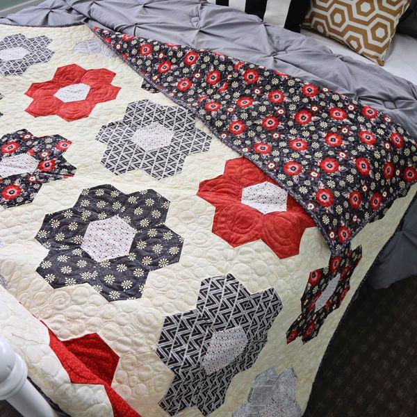 Hexagon Blossom Quilt Kit