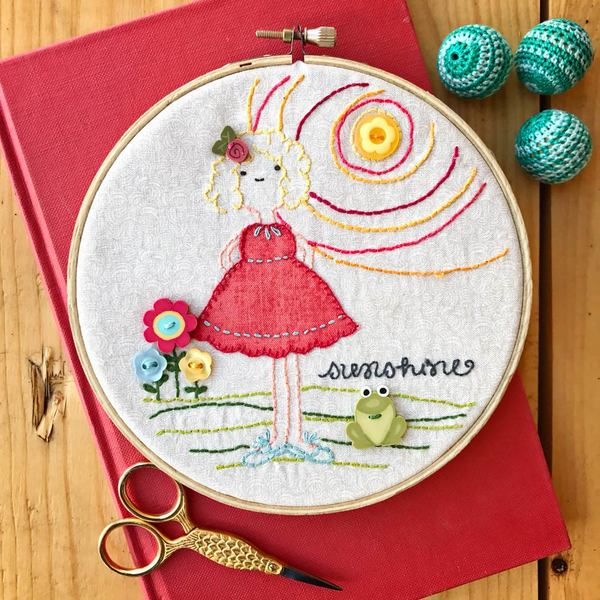 O Sunshine Girls Embroidery Kit by Adornit Ms