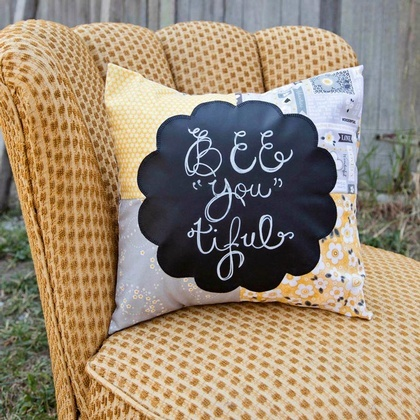 Daisy Chalkboard Pillow