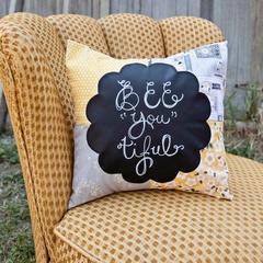 Daisy Chalkboard Pillow