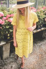 Ivie Eyelet Dress - Mustard