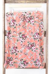Vintage Rose Skirt - Peach