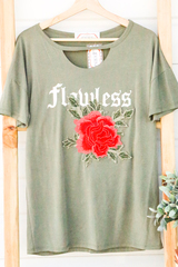 Flawless Olive Tee