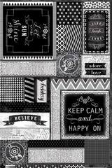 Chalkboard Chatter Panel Fabric