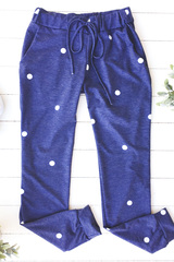 Blue Polka Dot Joggers