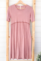 Serena Babydoll Dress - Mauve