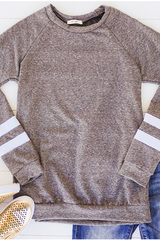 Track Tee Pullover - Grey